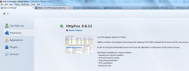HttpFox Firefox browser add-on