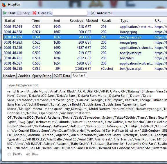 HttpFox HTTPS Capture