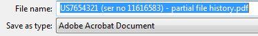 PDF file name